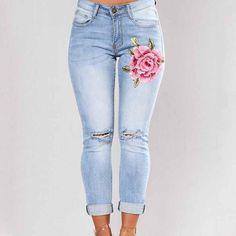 Big Flower Jeans