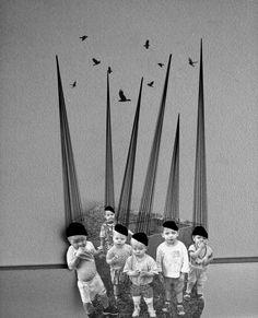 Whimsical collage by Jenya Vyguzov