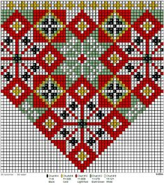 Costume, jewelery, tissues & Tole Painting: Bunad Hardanger Embroidery, Folk Embroidery, Embroidery Patterns, Knitting Patterns, Cross Stitch Borders, Cross Stitching, Cross Stitch Patterns, Peyote Patterns, Beading Patterns