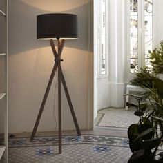 The Crib floor lamp is a beautiful take on a classic tripod design. The rustic finish comes with a black shade giving it a classic feel. Ideal for all types of properties. Living Room Modern, Living Spaces, Room Interior, Interior Design, Loft Style, Lounge Areas, Led, Room Set, Floor Lamp