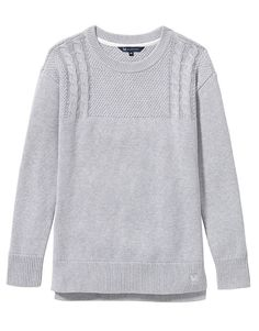 Women's Guernsey Knit in Grey Marl from Crew Clothing