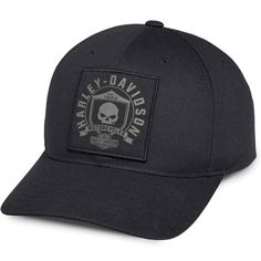 8d3af1dabdb09 Men s Willie G Skull Patch Cap. Harley Davidson ...
