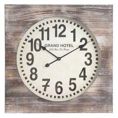 Cooper Classics Cooper Classics 40116 Distressed White Wash Standard/Arabic Numeral Augusta Wall Clock Distressed-White Wash Clock