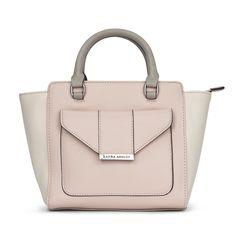 Colour Block Envelope Mini Tote Bag at Laura Ashley #lauraashley #handbag #accessories #pastel