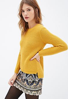 Zigzag-Patterned Knit Sweater | Forever 21 Canada