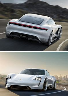 Porsche Mission E Concept - Car nerds are calling it a Tesla killer. Porsche calls it the Mission E Concept, an 800-volt luxury sedan with a 310-mile range that Porsche claims can re-charge to 80% in just 15 minutes. Aside from its sculptural good looks and efficiency, its 0-62MPH in 3.5 will help you remember that deep-down it's still a Porsche.