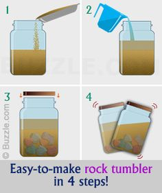 rock tumbling stones / rock tumbling _ rock tumbling before and after _ rock tumbling diy _ rock tumbling tips _ rock tumbling projects _ rock tumbling tumblers _ rock tumbling how to make _ rock tumbling stones Projects For Kids, Diy For Kids, Crafts For Kids, Diy Projects, Diy Crafts, Garden Crafts, Garden Kids, House Projects, Project Ideas
