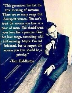 Tom Hiddleston ~ A True Gentleman