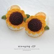 Sunflower Booties Crochet Pattern - via @Craftsy