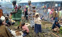 Congo people | People sheltering in a refugee camp at Mugunga near Goma after rebels ...