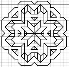 Blackwork Star Motif Pattern- link goes to a great site with free embroidery patterns