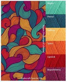 tattoo - mandala - art - design - line - henna - hand - back - sketch - doodle - girl - tat - tats - ink - inked - buddha - spirit - rose - symetric - etnic - inspired - design - sketch Yarn Color Combinations, Color Schemes Colour Palettes, Colour Pallette, Color Palate, Orange Color Schemes, Yarn Colors, Colours, Jewel Tone Colors, India Colors