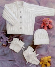 Hey, I found this really awesome Etsy listing at https://www.etsy.com/listing/219504424/knit-baby-jacket-cardigan-hat-mittens