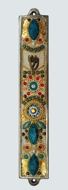 New Mezuzah Handmade Art Flower Swarovski by IrinaSmilansky, $50.00