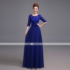 Formal Evening Dress A-line Scoop Floor-length Satin Dress 2015 – $59.99