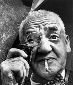 Weegee, 1957 -by Richard Sadler  from Bloomsbury. Weegee was the pseudonym of Arthur Fellig, a photographer and photojournalist, known for his stark black and white street photography.