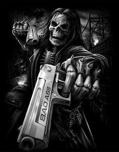 Fuck you skull memes Skull Tattoos, Tatoos, Evil Skull Tattoo, Reaper Tattoo, Totenkopf Tattoos, Arte Obscura, Geniale Tattoos, Skull Wallpaper, Chicano Art