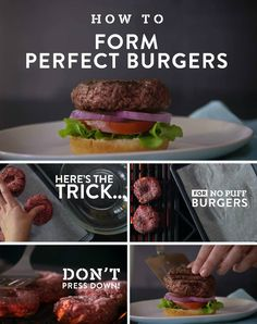 How to Form Perfect Burgers: Click here to discover our tricks for forming perfect, evenly cooked burgers every time.