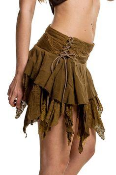 STEAMPUNK SKIRT Elf skirt pixie skirt gypsie by GekkoBoHotique