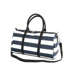 7a026677ec25 Fashion weekend waterproof striped travel bag man women s duffel tote large  capacity shoulder bag luggage casual