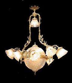 634 12light solid bronze 19th c chandelier antique light wwwrubylane