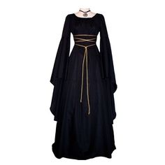 Xystia The Land Between Time ❤ liked on Polyvore featuring dresses, medieval, gowns, long dresses and costumes