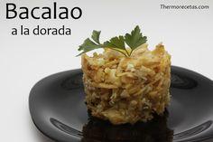 Delicioso y rápido plato de bacalao. Se sirve como un revuelto con huevo y patatas paja que lo harán muy atractivo para los más pequeños de la casa.