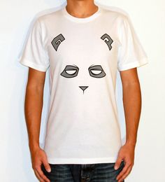 Eye of the Panda.100% Fine Jersey Cotton. Durable rib neckband. Form-fitting. Screen printed with environmental friendly water based ink.