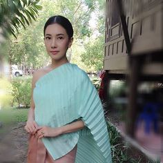 Traditional Thai Clothing, Traditional Dresses, Thai Dress, Thai Style, My Girl, Sari, Costumes, Clothes, Tops