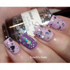 Glitter Grape Mani ✧ ➳ ➳ ➳ erinzi