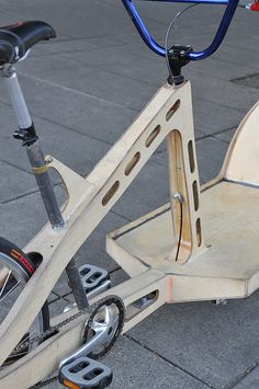 Plywood cargo bike-5 | This is a hand made cargo bike built … | Flickr