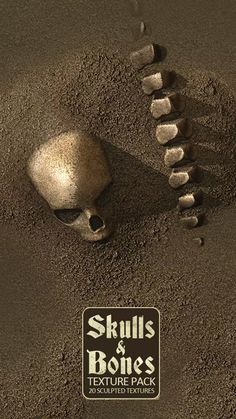 20 Seamless #Skull and #Bones #Textures and Materials for your games. These textures contains sculpted skulls and bones combined with mud, sand, water, snow and rocks. Perfect to integrate in catacombs, crypts, caverns, deserts, cemeteries or dystopian #environment. Package Content: - 3 Mass Grave textures - 3 variations of Skulls and Bones combined with mud, sand, water, snow and rocks. - 1 mud texture - 1 sand texture - 1 snow texture Unity 3D game asset Unity 3d Games, Snow And Rock, Snow Texture, Catacombs, Texture Packs, Game Assets, Skull And Bones, Mud, Skulls