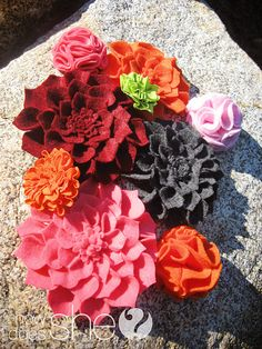 adorable and cheap flowers to make...can be added to so many things.