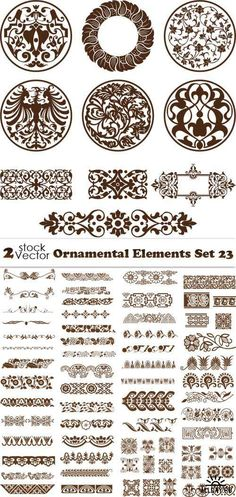 Vectors - Ornamental Elements Set 23