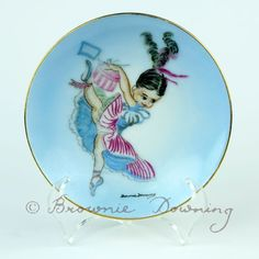 Ceramic plate – can can dance