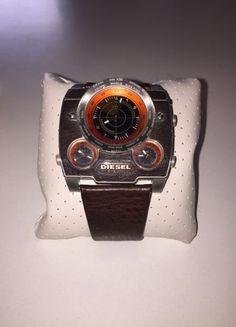 Kaufe meinen Artikel bei #Kleiderkreisel http://www.kleiderkreisel.de/accessoires/uhren/159415665-braune-diesel-armanduhr-mit-lederband