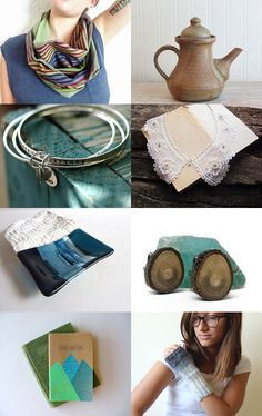 Teals for September by Som on Etsy--Pinned with TreasuryPin.com