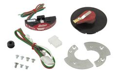 Mallory 61002M E-Spark Ignition Conversion Kit; Incl. E-Spark Module/Shutter Wheel/Wiring Harness/Hardware; Fits 1957-1974 Ford V8;, As Shown