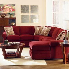 Unprotected on a red sofa