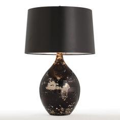 Arteriors Home 42780-523 Flynn Glass Table Lamp, Black - Lighting Universe