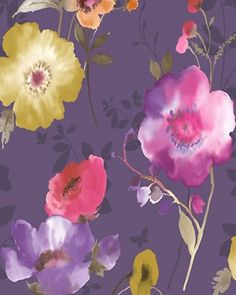 Feature Wallpaper / Purple Wallpaper / Flowers Walpaper / Purple Pink Wallpaper | eBay