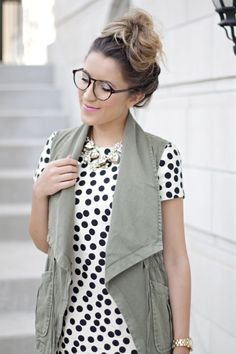 Polka dots + top knots