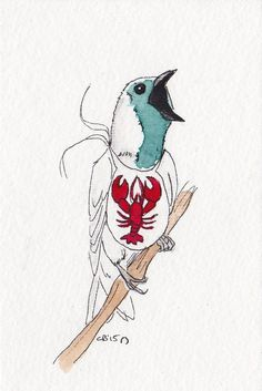 A bare throated bellbird. Who wants lobster.  by IckyDog on DeviantArt