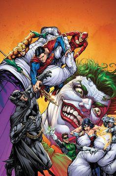 Justice League Of America Vol 4 Cover B Variant Howard Porter The Joker Anniversary Cover Nightwing, Batgirl, Batwoman, Marvel Dc Comics, Dc Comics Art, Art Du Joker, Joker Dc, Joker And Harley Quinn, Comic Book Covers