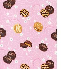 Robert Kaufman Girl Scout Pink cookies Fabric Rare Amazing don't miss Fq COTTON