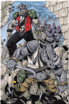 HEROES CON 2016 Auction: Bebop and Rocksteady by Shono