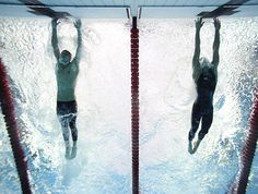 Phelps beating Cavic by 1/100th of a second on 100m butterfly Beijing 2008