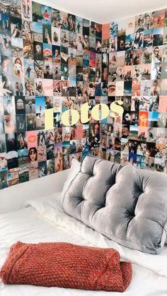 Otaku Room, Tumblr Rooms, Pretty Bedroom, Indie Room, Easy Home Decor, Creative Decor, Room Organization, Aesthetic Art, Wall Collage
