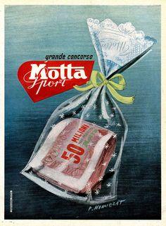 Vintage Italian Posters ~ #Italian #vintage #posters ~Motta  1950