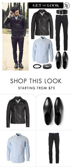 """""""Biker Dapper"""" by dappervigilante ❤ liked on Polyvore featuring Marc by Marc Jacobs, John Lobb, Paul Smith, Dolce&Gabbana, men's fashion and menswear"""
